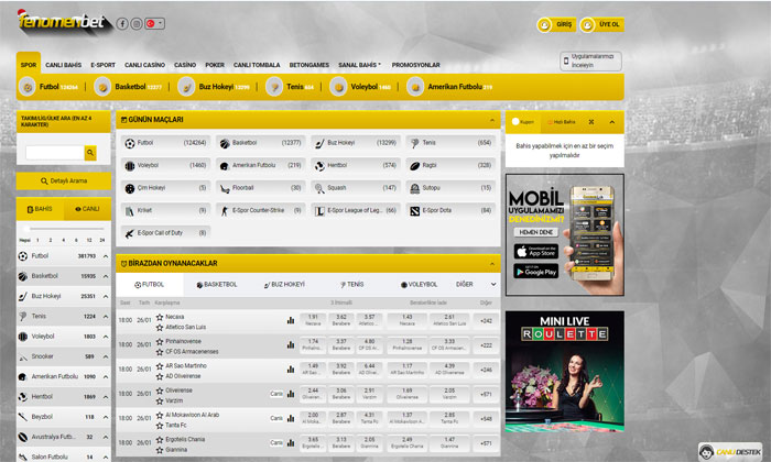 Fenomenbet Spor Bahisleri ve Casino Sitesi
