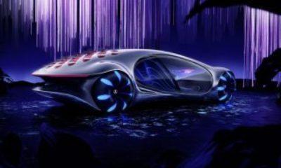 Mercedes'in etkileyici otomobili Vision AVTR yollara çıktı Mercedes Vision AVTR yollarda VİDEO