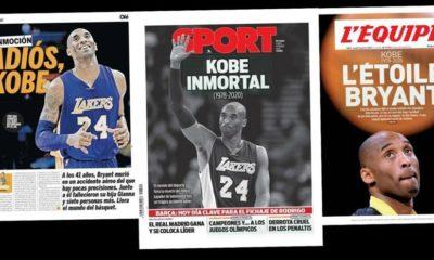 Dünyada Kobe manşetleri