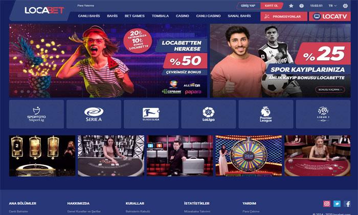 Locabet Casino Oyunları ve Canlı Bahis Sitesi