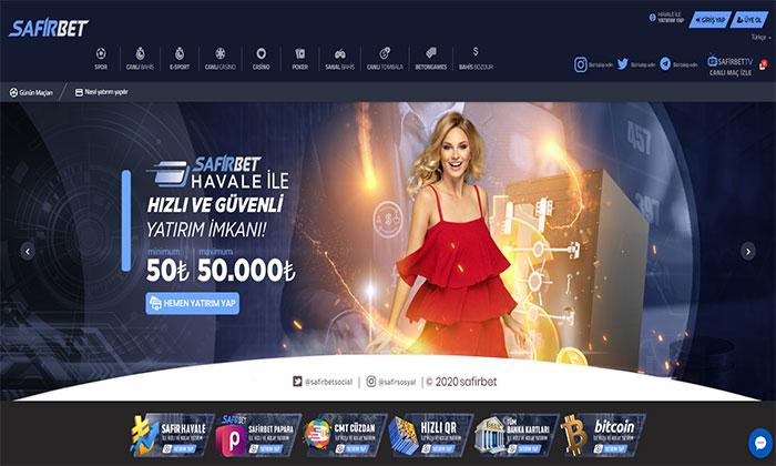 Safirbet Spor Bahisleri ve Casino Servisleri
