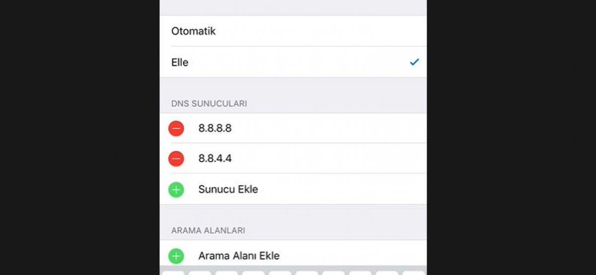 iPhone'larda DNS adresi nasıl değiştirilir