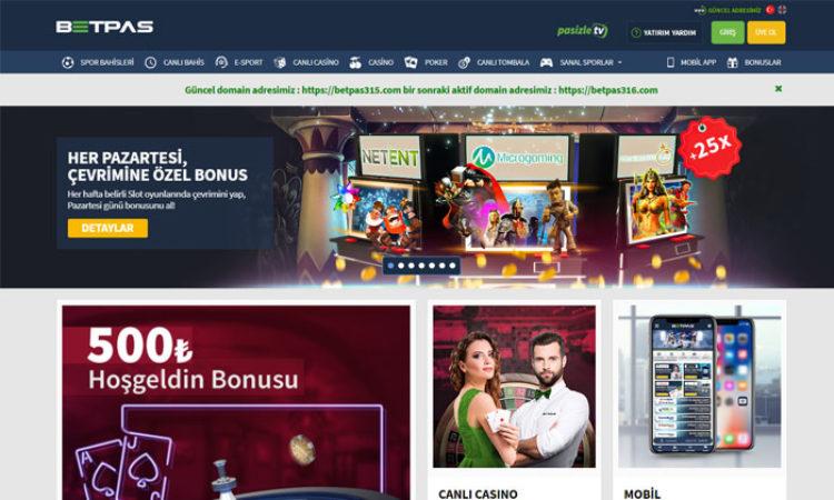 Betpas Online Maç Bahisleri ve Casino Oyunları