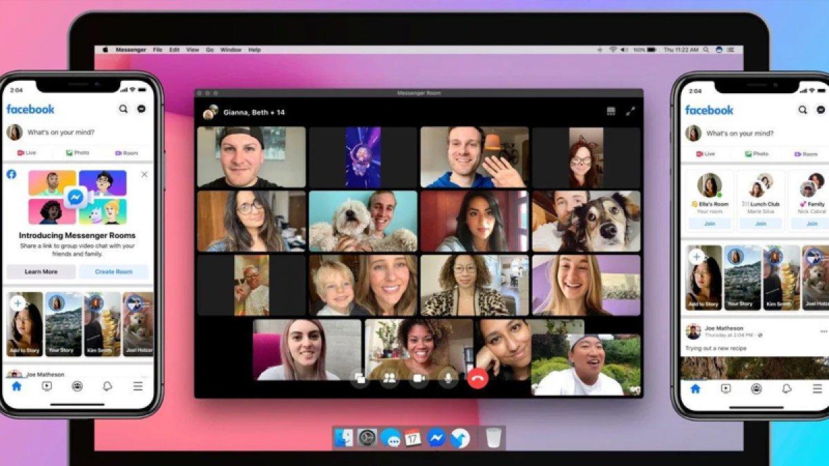 Facebook ,yeni grup görüntülü sohbet özelliğini yayınladı