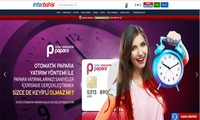 İnterbahis Alternatif Bahis ve Casino Sitesi