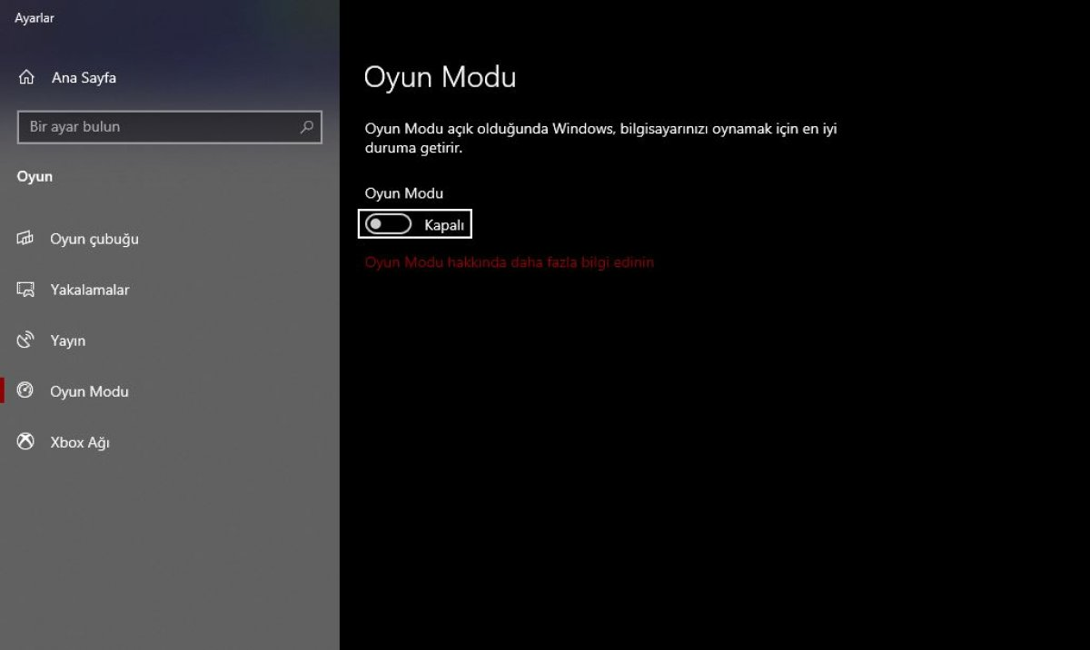 Windows'un oyun modu, oyun performansını düşürüyor