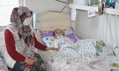 15 aylık bebek milyonda bir görülen Pompe hastalığına yakalandı…