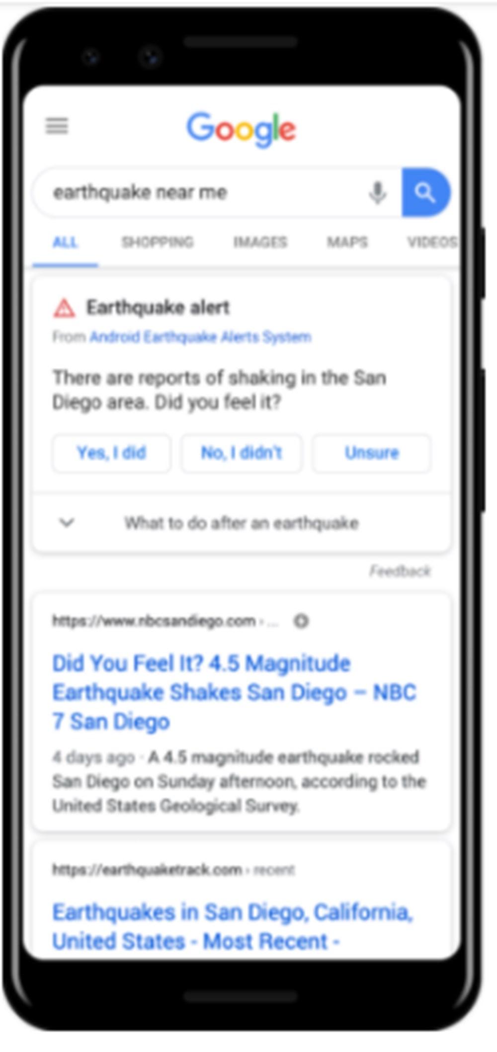 Android telefonlar artık depremi ölçecek