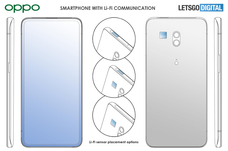 Oppo'dan Li-Fi destekli yeni akıllı telefon patenti
