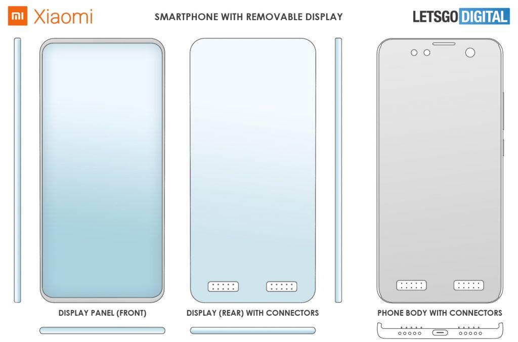 Xiaomi'den çıkarılabilir ekranlı yeni telefon patenti