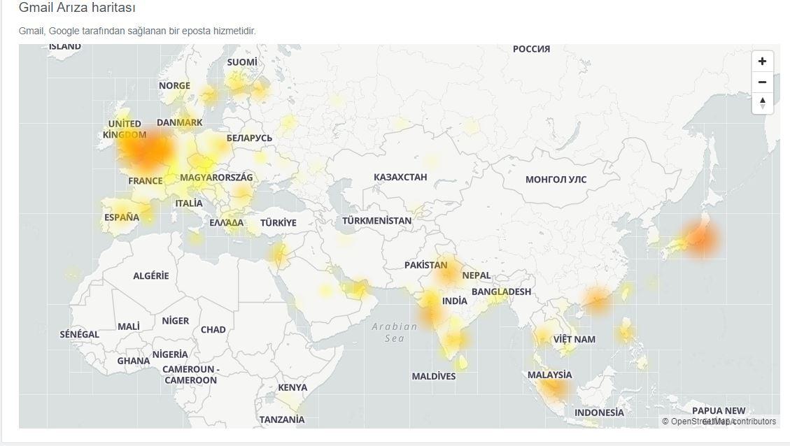 Bazı Google hizmetlerinde küresel kesintiler yaşanıyor #1