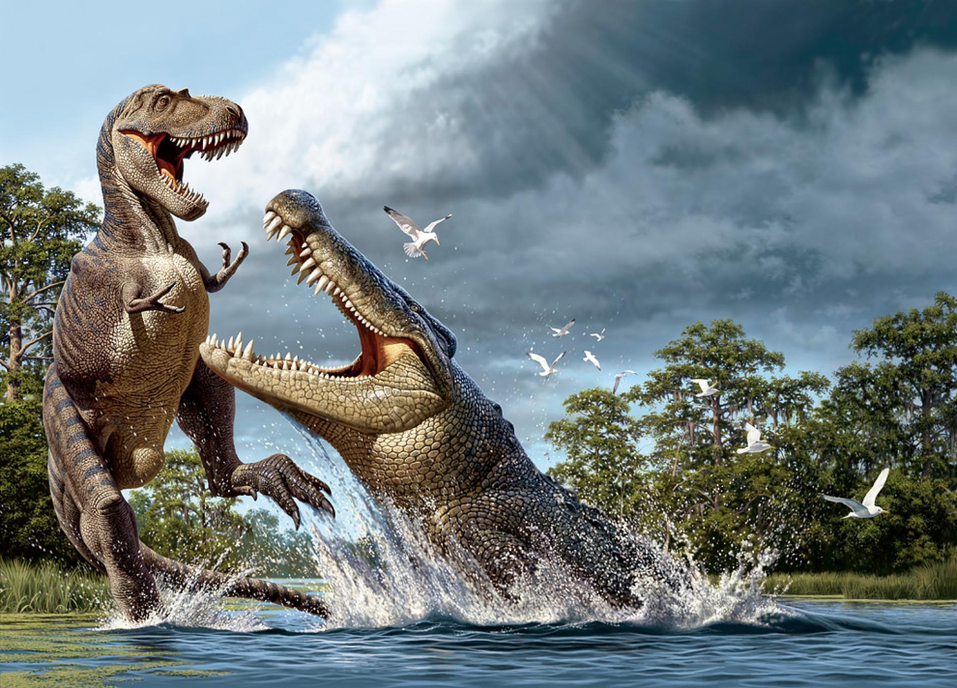 Bilim insanları dinozor avlayan timsah keşfetti