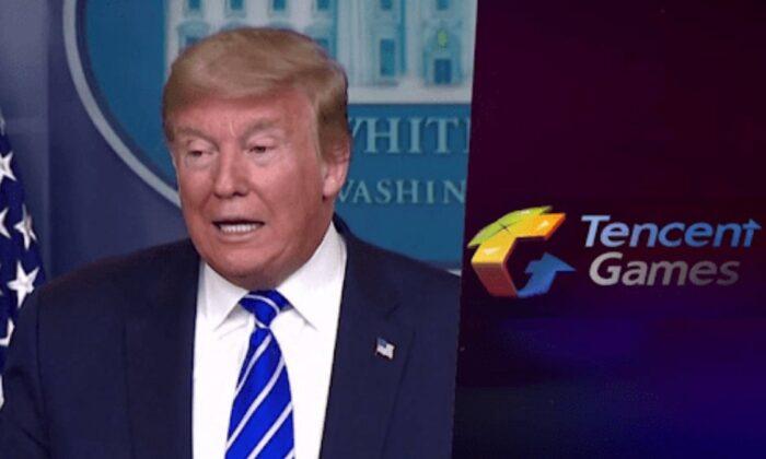 Donald Trump, başka bir Çinli şirket Tencent Games'ten bilgi istedi