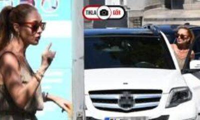 Dolunay Soysert Trafiği Kitleyen Sürücüye Tepki Gösterdi