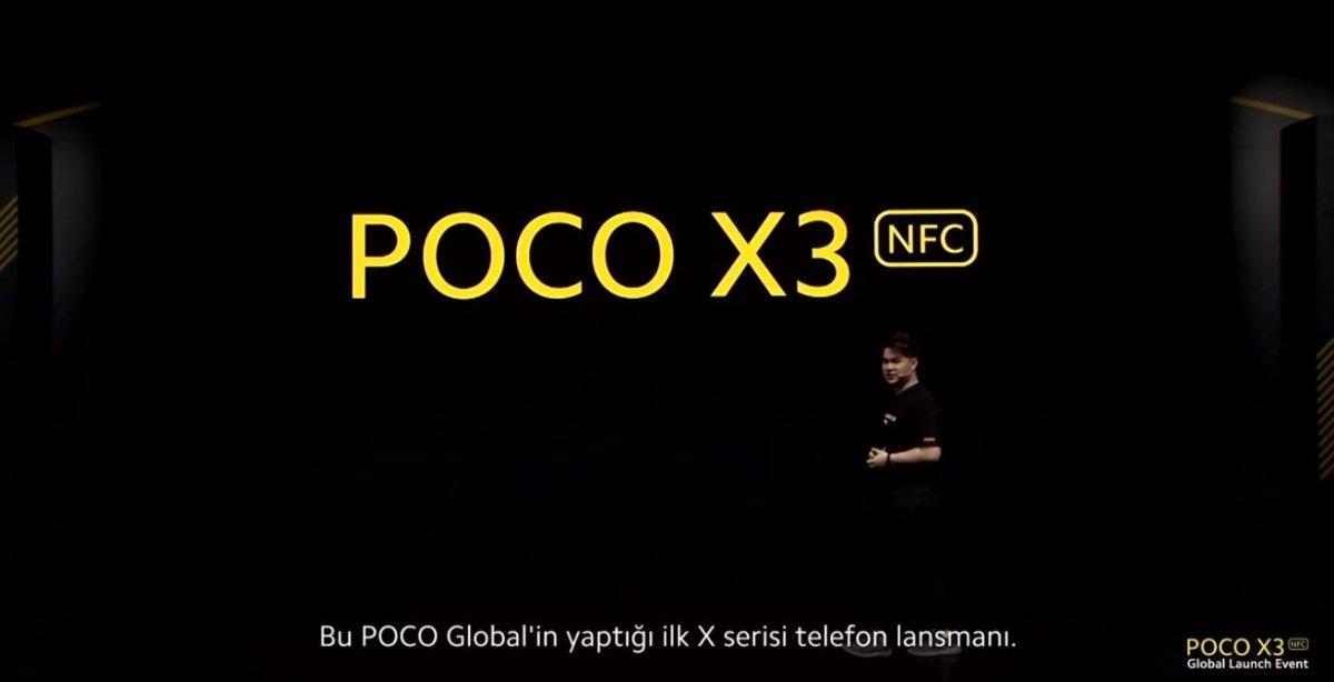 Xiaomi POCO X3 NFC canlı yayında tanıtılıyor
