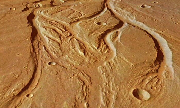 Bilim insanları, Mars'taki nehir sisteminin haritasını çıkardı