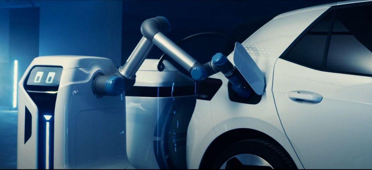 Volkswagen'in elektrikli araç şarj robotu ortaya çıktı
