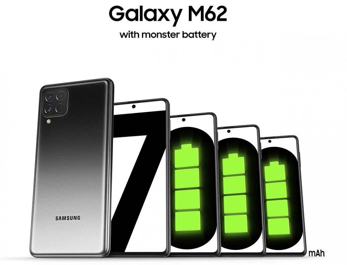 7000 mAh bataryalı Samsung Galaxy M62 duyuruldu