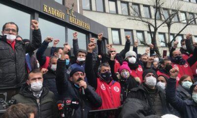 Kadıköy, Kartal ve Ataşehir Belediyesi işçileri greve başladı