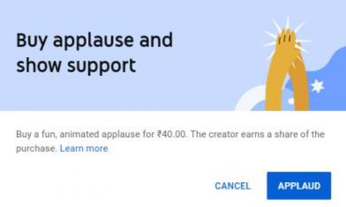 YouTube Alkış özelliği nedir, aktif mi? YouTube Alkış özelliği ücretli mi?