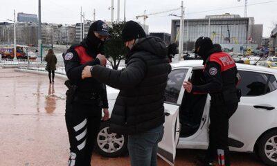 Taksim Meydanında hareketli dakikalar