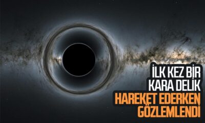 Hareket eden süper kütleli kara delik ilk kez gözlemlendi