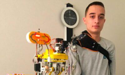 Lise öğrencisi, mobil robot kol projesiyle dünya birincisi oldu
